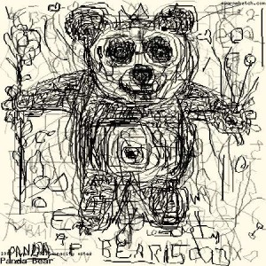 Panda Bear, an online collective drawing created through Swarmsketch