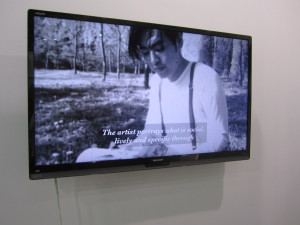 "Li Ran, ""Another 'The Other Story,'"" 2013, video installation at Aike-Dellarco, Shanghai"