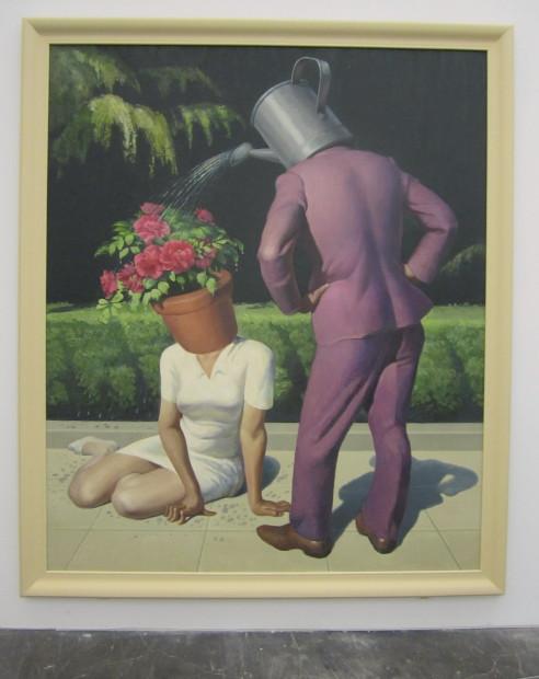 "Wang Xingwei, ""Untitled (Watering Flowers),"" 2013"