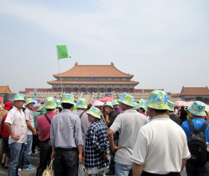 Tour group at the Forbidden City