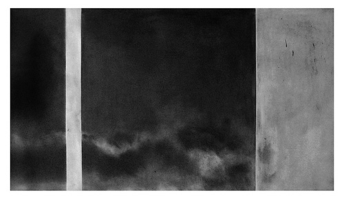 """Last View,"" 2013, Graphite on paper, 35-1/2 x 51-3/8 inches, image courtesy gallery website"