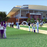 Rendering of the not-to-be-built Arts Center of North Texas