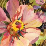 Kay Smith, Christy's Zinnia's. This really would make a pretty pillow.
