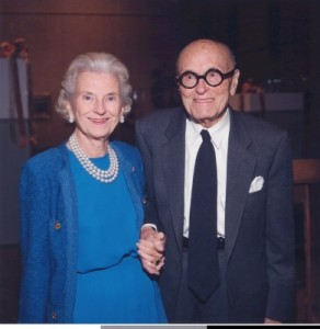 Ruth Carter Stevenson and Amon Carter Museum designer Philip Johnson. Photo: Texas Society of Architects