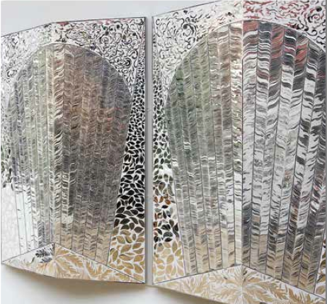 Monir Farmanfarmaian, Birds of Paradise, 2008