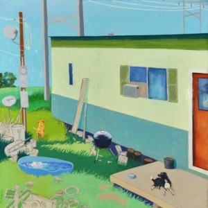 Lindy Chambers, It is what it is, 2012. Oil on panel, 30 1/8 x 30 1/8 inches