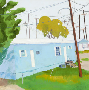 Lindy Chambers, My place to live, 2012. Oil on gessobord, 24 x 24 inches
