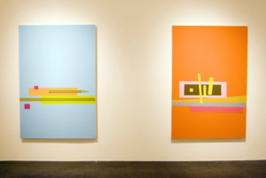 Kirsten Macy, Digital vs. Analog, 2005, installation view