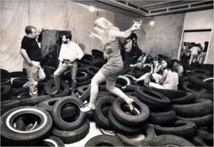 1969 installation of Allan Kaprow's Yard