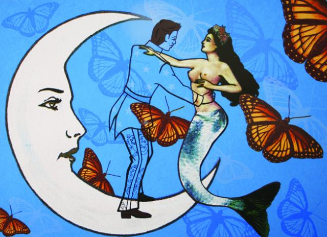 Alma López, El Vals de las Mariposas, 2008, screenprint, 16 x 21.45 inches. Image courtesy of Serie Project.