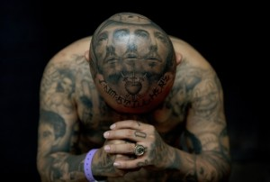 """Tattoos by artist Josh Lin displayed by a man named """"Oldies"""" during the London Tattoo Convention. Photo by Adrian Dennis/AFP/Getty Images."""
