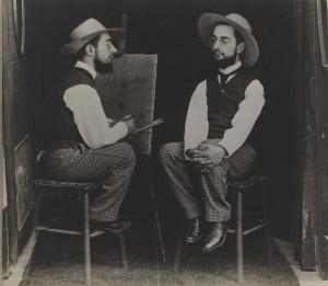 Maurice Guibert, Henri de Toulouse-Lautrec as Artist and Model, c. 1900, gelatin silver print, Philadelphia Museum of Art