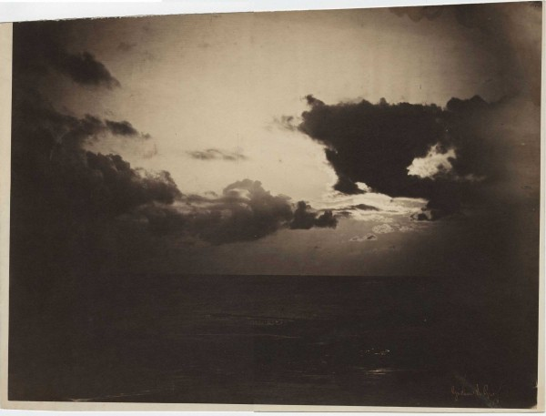 Jean Baptiste Gustave Le Gray, Cloud Study, 1856–1857, albumen silver print from glass negative, estate of Maurice Sendak