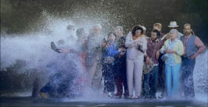 Bill Viola, The Raft, 2004. Color High-Definition video projection on wall in darkened space; 5.1ch surround sound. 10:33 minutes. Photo: Kira Perov.