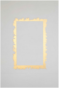 Fabrice Samyn All Around, 2013 Gold leaf paint on wall Dimensions variable