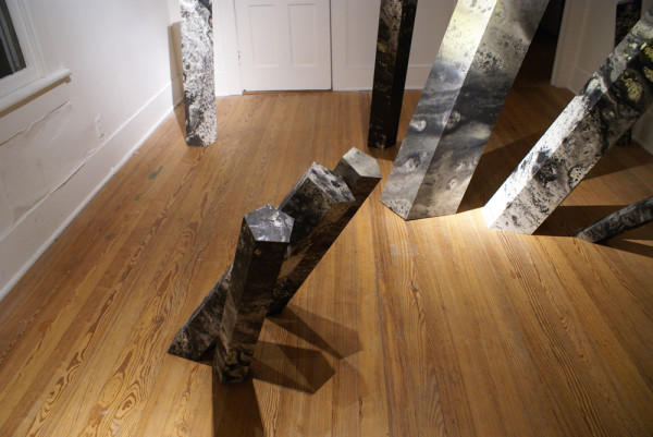 Atramentite installation. Ink, paper, foam core. Dimensions variable. Photo courtesy of the artist.