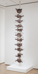 Even the Centipede, 1952 Kasama red stoneware, wood pole, and hemp cord 165 5/8 x 18 in. (420.6 x 46 cm) The Museum of Modern Art, New York, A. Conger Goodyear Fund, 1955