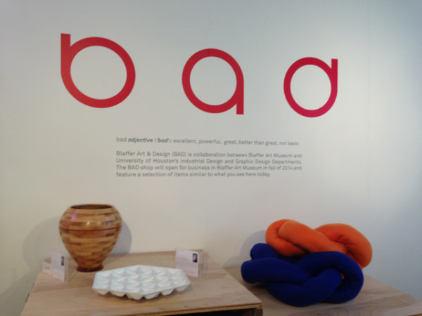 The Blaffer Art Museum's BAD (Blaffer Art and Design) booth.