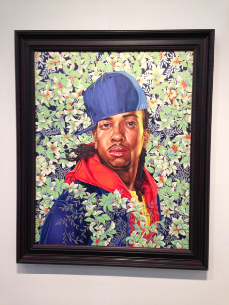 Kehinde Wiley at the Lora Reynolds booth