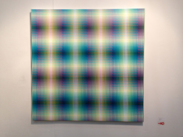 "Susie Rosmarin's ""Blue Green Violet #9,"" 2012 at the Texas Gallery booth"