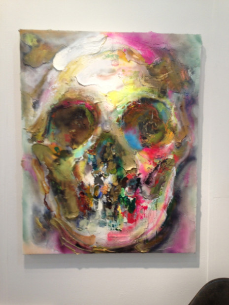 Geoff Hippenstiel at the Devin Borden Gallery booth