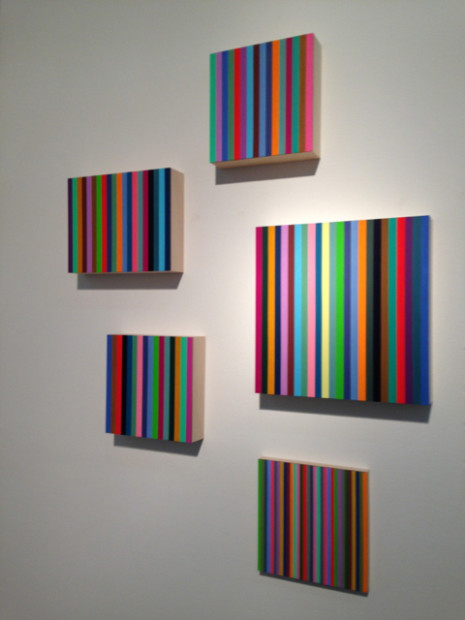 Rob Reasoner's stripes at McClain Gallery