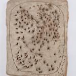 Spatial Concept, Bread (Concetto spaziale, Il pane), 1950 Painted terracotta 16 1/2 x 12 5/8 in. (42 x 32 cm) Fondazione Lucio Fontana, Milan