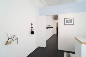 Installation view entering the gallery