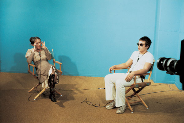 Chris Burden, still from TV Hijack, 1972. Photo: G. Beydler. Courtesy of the artist and Gagosian Gallery, © Chris Burden.
