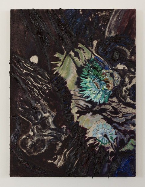 """New Forms (2013), oil on canvas, 24 x 18"""". Image courtesy the artist and Tiny Park"""