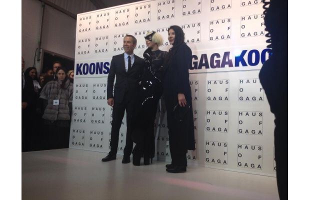 Image via Complex Art+Design/ Lady Gaga, Jeff Koons, and Marina Abramovic at ArtRave