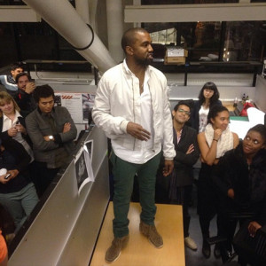 Kanye West at Harvard. Instagram photo by Ramon Sierra.