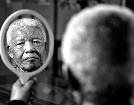 This 2011 portrait of former South African President Nelson Mandela, by photographer Adrian Steirn, was sold a few days ago to a private art collector in New York for $200,000, the highest price paid for a South African photograph. The money raised is to be donated to the Nelson Mandela Children's Hospital and the World Wildlife Fund. Mandela died last night in South Africa at 8:15 pm local time. (AP and CNN.com)