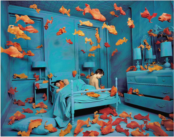 Sandy Skoglund (b. 1946) Revenge of the Goldfish, 1980, 1980. Silver dye-bleach print © 1981 Sandy Skoglund. St. Louis Art Museum, Gift of Mr. and Mrs. Fielding Lewis Holmes.