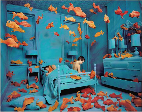 Sandy Skoglund (b. 1946) Revenge of the Goldfish, 1980, 1980. Silver dye-bleach print © 1981 Sandy Skoglund. St. Louis Art Museum, Gift of Mr. and Mrs. Fielding Lewis Holmes.