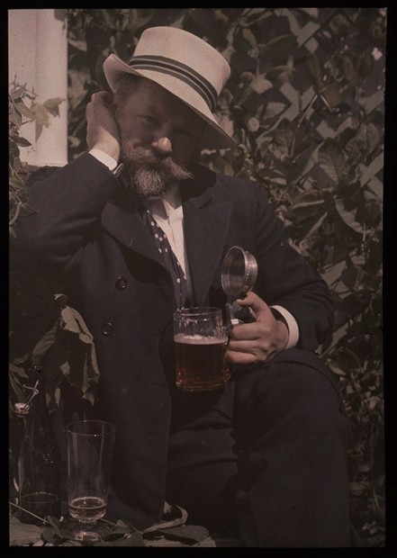 Alfred Stieglitz (1864-1946) Frank Eugene, 1907. Lumière autochrome © The Metropolitan Museum of Art, Alfred Stieglitz Collection, 1995 © 2012 Georgia O'Keeffe Museum