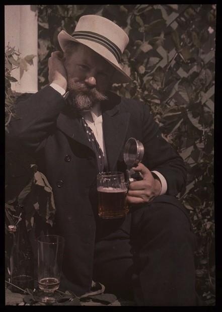Alfred Stieglitz (1864-1946) Frank Eugene, 1907. Lumière autochrome © The Metropolitan Museum of Art, Alfred Stieglitz Collection, 1995 © 2012 Georgia O'Keeffe Museum