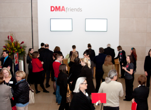 One year ago at the DMA: the first few dozen Friends