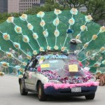 """Percy Peacock,"" built by the Garrett family of Houston for the 2010 Parade. Photo by Rod Evans."