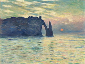 The Cliff, Étretat, Sunset (1883)