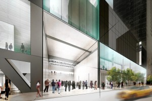 Concept sketch of the MoMA's planned expansion