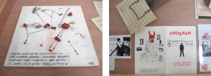 Pieces and ephemera from the collection of artist Michael Galbreth.