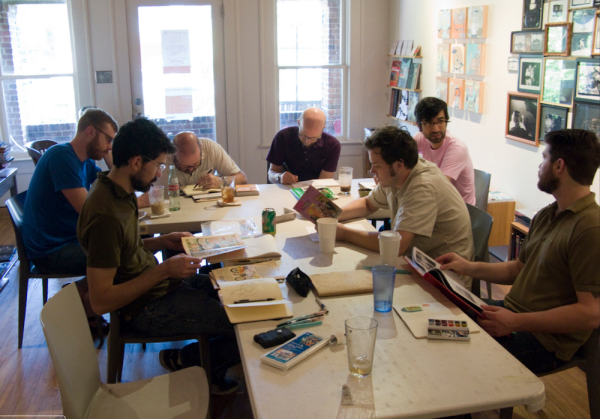 A Klubb meeting at Domy Books, Houston in 2009