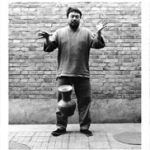 Photos displayed behind the installation: Dropping a Han Dynasty Urn. 1995, B/W-triptych. Photocredit Ai Weiwei © Ai Weiwei