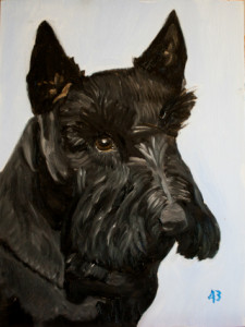 "The former President's portrait of Barney Bush (2000-2013) will probably not be included in the exhibition, although some conspiracists believe he may have served as a mascot for some sort of ""shadow government."" It is rumored that, like both Presidents Bush, he was a member of the secret society, Skull and Milk-Bones."