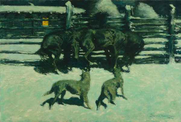 Frederic Remington, The Call for Help, c. 1908, oil on canvas, the Museum of Fine Arts, Houston, The Hogg Brothers Collection, gift of Miss Ima Hogg