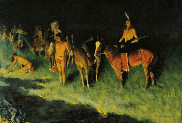 Frederic Remington, The Grass Fire, 1908 Oil on canvas Amon Carter Museum of American Art, Fort Worth, Texas