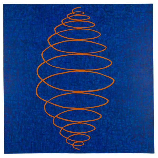 John Wilcox, Sane, 1981, acrylic on canvas, 55 x 55 inches. courtesy of Barry Whistler Gallery