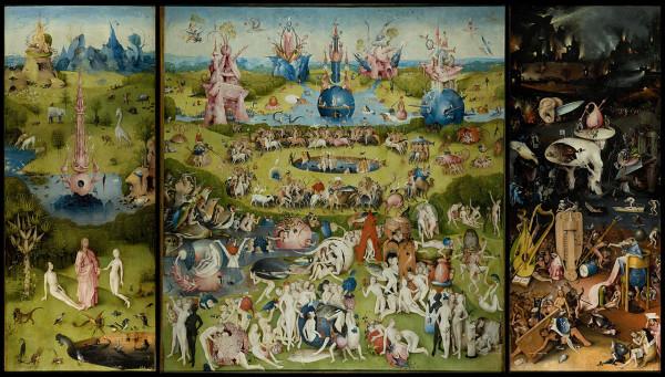 Hieronymus Bosch, The Garden of Earthly Delights, Museo del Prado, Madrid, Spain.