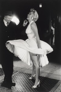 """George S. Zimbel, Marilyn Monroe and Billy Wilder, """"The Seven Year Itch,"""" New York, 1954, gelatin silver print, printed 1993, the Museum of Fine Arts, Houston, Museum purchase funded by Jonathan and Cynthia King. © George S. Zimbel"""